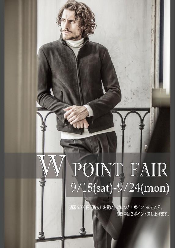 PAZZOメンバーズカード W POINT Fair