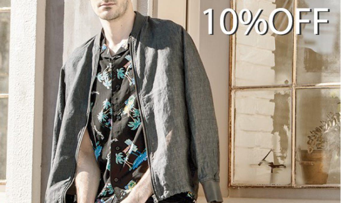 10days 2BUY 10%OFF!!  4/27(sat)〜5/6(mon)
